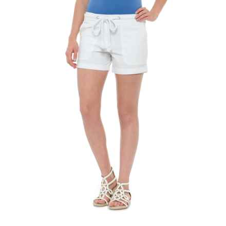 Cynthia Rowley Rope Belt Shorts (For Women) in White - Closeouts