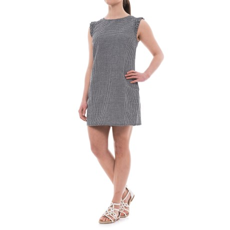 Cynthia Rowley Ruffled Seersucker Gingham Dress For Women
