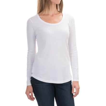 Cynthia Rowley Scoop Neck Shirt - Pima Cotton-Modal, Long Sleeve (For Women) in White - Closeouts