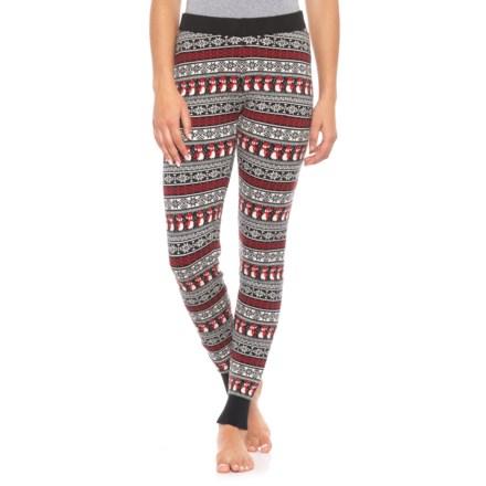 b82de163fcf5e0 Cynthia Rowley Snowmen Leggings (For Women) in Black/ Lava Red/ Sweet  Vanilla