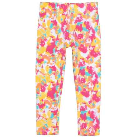Cynthia Rowley Tie-Dye-Look Leggings (For Big and Little Girls) in Bright White - Closeouts