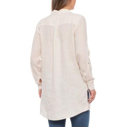76cec1ea2d42d Cynthia Rowley Turban Yellow Micro Pinstripe Popover Shirt - Long Sleeve  (For Women) in