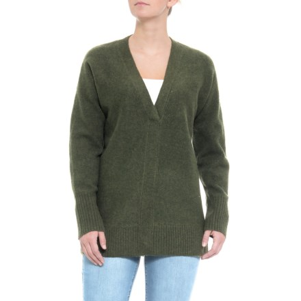 d4fb7b3dde Cynthia Rowley V-Neck Sweater (For Women) in Dark Olive Heather - Closeouts
