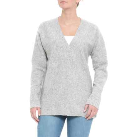 Cynthia Rowley V-Neck Sweater (For Women) in Grey - Closeouts