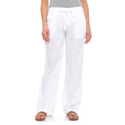 38851e5c742b Cynthia Rowley White Solid Pull-On Pants (For Women) in White - Closeouts