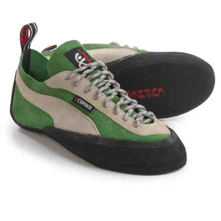Cypher Prefix Climbing Shoes - Suede in Green/Gray - Closeouts