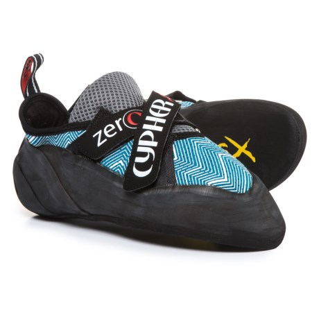 Cypher Zero Climbing Shoes - Vibram® Outsole (For Men and Women) in Blue/White