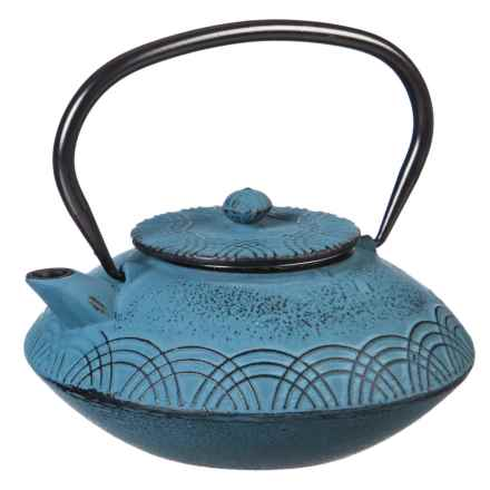 Cypress Home Light Blue Refresh Cast Iron Teapot with Infuser in Light Blue - Closeouts