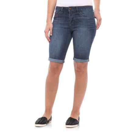 D. Jeans Denim Roll Cuff Bermuda Shorts (For Women) in Dark Elise - Closeouts