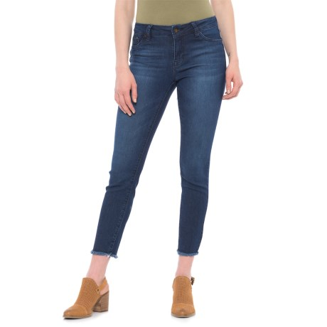 D. Jeans High-Waisted Frayed Hem Ankle Jeans (For Women) in Dark Lorie