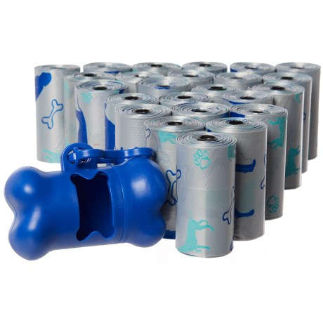 D2W 24 Pet-Waste Bag Rolls and Dispenser - 360 Count in Blue Dog On Silver - Scented