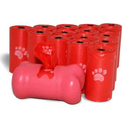 d2w® Dog Waste Pick-Up Bags with Dispenser - 240-Pack in Red - Closeouts