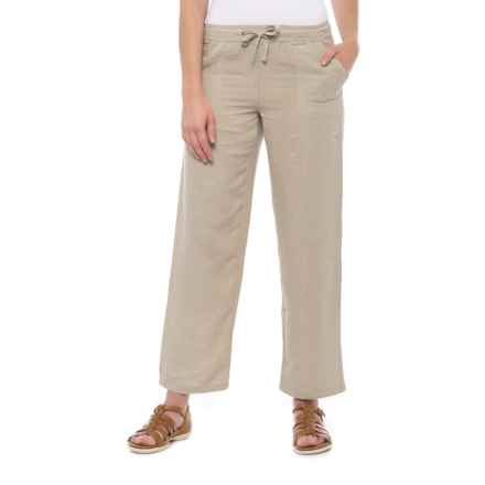 da-sh Linen Drawstring Pants (For Women) in Sand - Closeouts