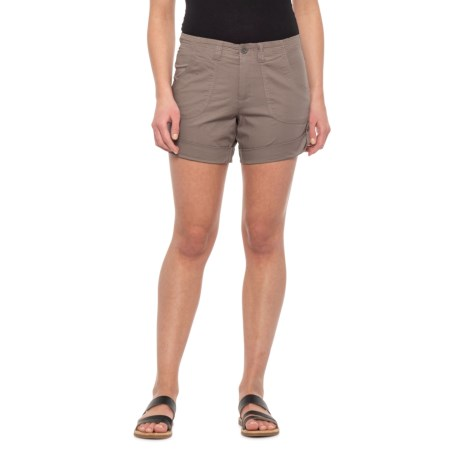 3b30132d64 da-sh Taupe Jade Roll-Tab Shorts (For Women)