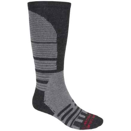 Dahlgren Alpaca-Merino Wool Knee-High Socks - Midweight, Over-the-Calf (For Men and Women) in Charcoal - 2nds