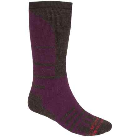 Dahlgren Alpaca-Merino Wool Knee-High Socks - Over the Calf (For Men and Women) in Eggplant - 2nds
