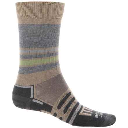 Dahlgren FarWest Light Hiking Socks - Merino Wool Blend, Crew (For Men and Women) in Earth - Overstock
