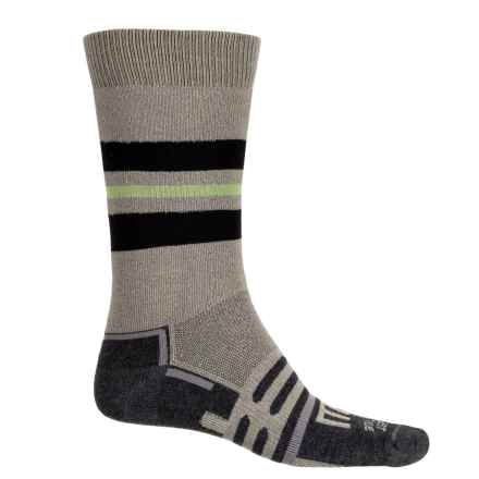 Dahlgren FarWest Midweight Hiking Socks - Merino Wool-Alpaca, Crew (For Men and Women) in Earth/Black Stripe - Overstock