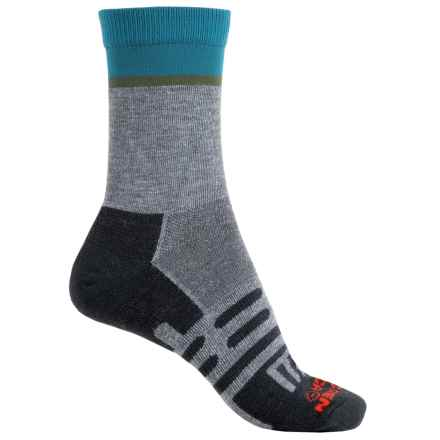 Dahlgren Half Pass Hiking Socks - Crew (For Women) in Charcoal - Closeouts