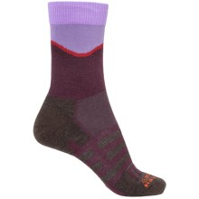 Dahlgren Half Pass Hiking Socks - Crew (For Women) in Eggplant - Closeouts