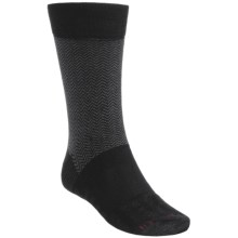 Dahlgren Herringbone Crew Socks (For Men) in Black - Closeouts