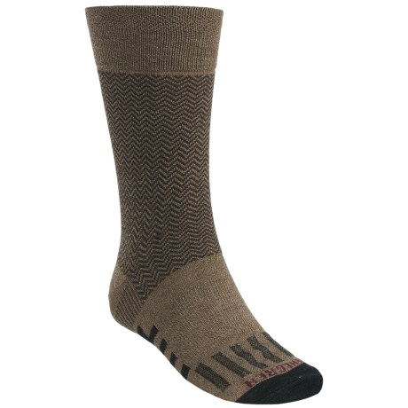 Dahlgren Herringbone Crew Socks (For Men) in Khaki Marl
