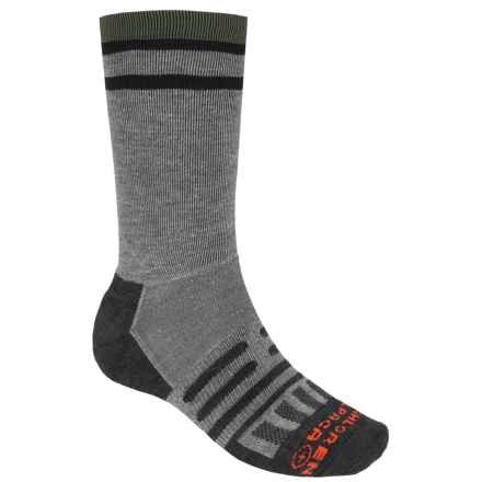 Dahlgren Multipass Light Alpaca Socks- Merino Wool, Crew (For Men and Women) in Charcoal - Closeouts