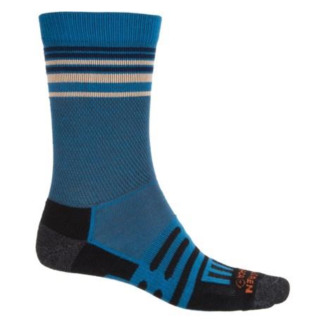Dahlgren Multipass Light Alpaca Socks - Merino Wool, Crew (For Men and Women) in Classic Blue/Cream Stripe