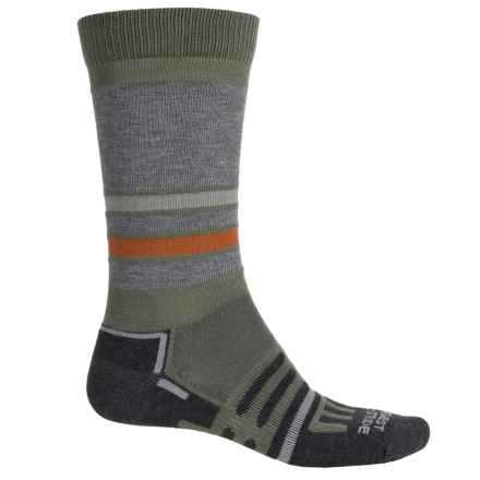 Dahlgren MultiPass Light Hiking Socks - Crew (For Men and Women) in Earth Stripe - 2nds