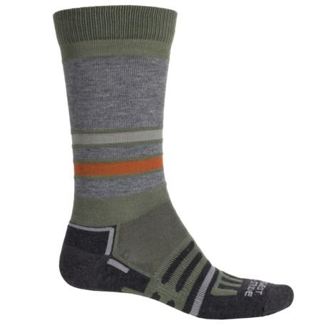 Dahlgren MultiPass Light Hiking Socks - Crew (For Men and Women) in Earth Stripe