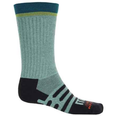 Dahlgren MultiPass Light Hiking Socks - Merino Wool, Crew (For Women) in Artic/Black /Blue - Closeouts