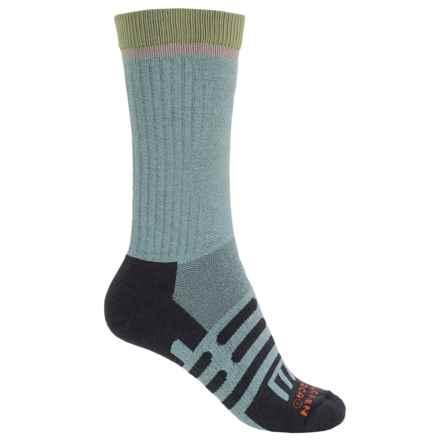 Dahlgren MultiPass Light Hiking Socks - Merino Wool, Crew (For Women) in Artic/Black /Green - Closeouts