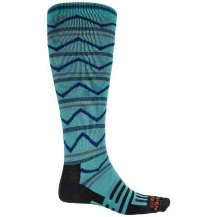 Dahlgren Multisport Compression Socks - Merino Wool-Alpaca, Over the Calf (For Men and Women) in Scuba Blue - 2nds