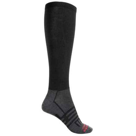 Dahlgren Multisport Compression Socks - Merino Wool-Alpaca, Over-the-Calf (For Women) in Black - 2nds