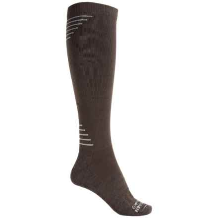 Dahlgren Multisport Compression Socks - Merino Wool-Alpaca, Over the Calf (For Women) in Brown - 2nds