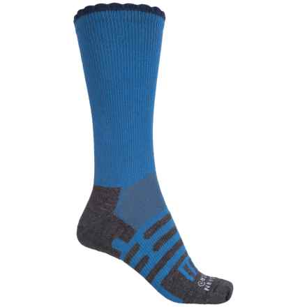 Dahlgren Petal Pusher Socks - Merino Wool, Crew (For Women) in Charcoal/Classic Blue - Closeouts