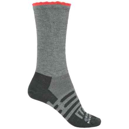 Dahlgren Petal Pusher Socks - Merino Wool, Crew (For Women) in Charcoal/Coral - Closeouts