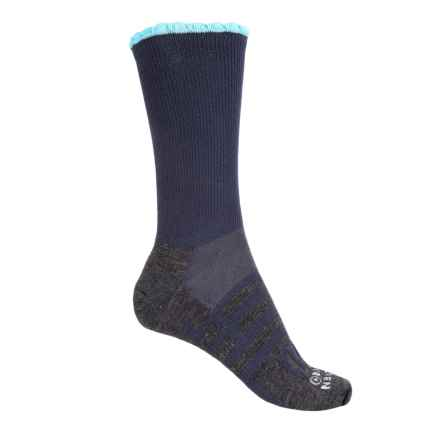 Dahlgren Petal Pusher Socks - Merino Wool, Crew (For Women) in Charcoal/Indigo - Closeouts