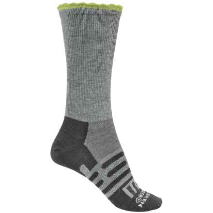 Dahlgren Petal Pusher Socks - Merino Wool, Crew (For Women) in Charcoal/Light Green - Closeouts