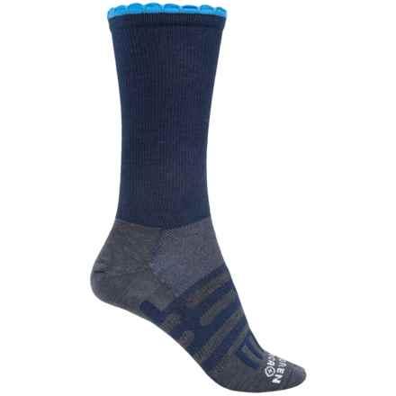 Dahlgren Petal Pusher Socks - Merino Wool, Crew (For Women) in Navy/Light Blue - Closeouts