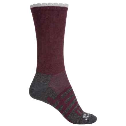Dahlgren Petal Pusher Socks - Merino Wool, Crew (For Women) in Wine - Closeouts