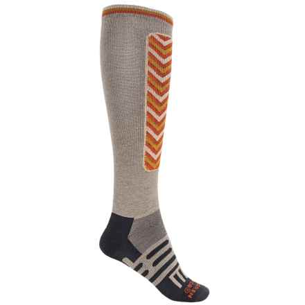 Dahlgren Sno Comp Ski Socks - Merino Wool-Alpaca, Over the Calf (For Men and Women) in Moonrock - Closeouts