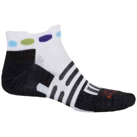 Dahlgren Trainer Socks - Ankle (For Men and Women) in White/Polka Dot - Closeouts