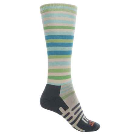 Dahlgren Transit Stripe Socks - Over the Calf (For Women) in Moonrock - Overstock