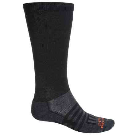 Dahlgren Travelers Compression Socks - Merino Wool-Alpaca, Over the Calf (For Men and Women) in Black - Closeouts