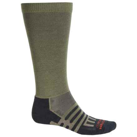Dahlgren Travelers Compression Socks - Merino Wool-Alpaca, Over the Calf (For Men and Women) in Earth - Closeouts