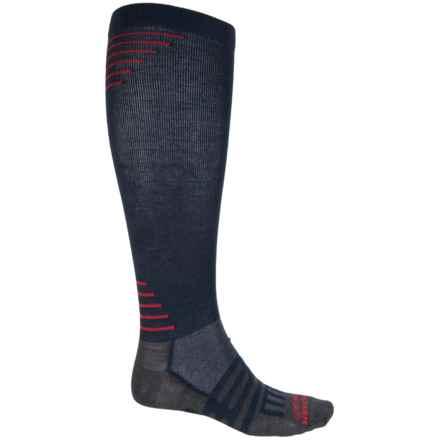 Dahlgren Travelers Compression Socks - Merino Wool-Alpaca, Over the Calf (For Men and Women) in Navy - Closeouts