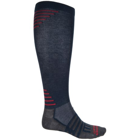 Dahlgren Travelers Compression Socks - Merino Wool-Alpaca, Over the Calf (For Men and Women) in Navy