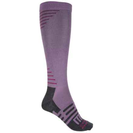Dahlgren Travelers Compression Socks - Merino Wool-Alpaca, Over the Calf (For Men and Women) in Orchid - Closeouts