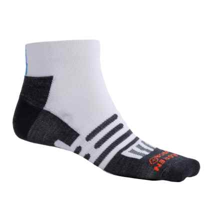 Dahlgren Ultralight Socks - Merino Wool-Alpaca, Below the Ankle (For Men and Women) in White Blue Stripe - Closeouts